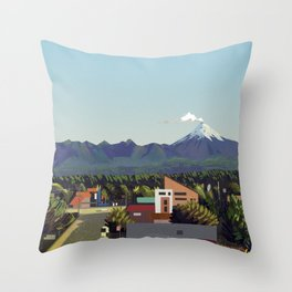Volcano Throw Pillow