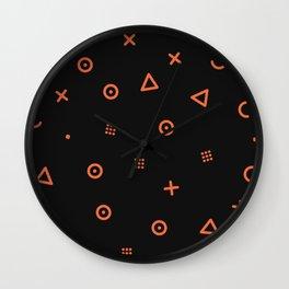 Happy Particles - Black Wall Clock