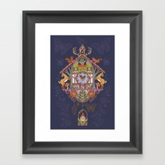 Woodland Cuckoo Framed Art Print