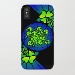 Stained Glass Shamrocks iPhone Case