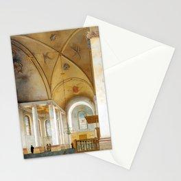 Pieter Saenredam The Nieuwe Kerk in Haarlem Stationery Cards