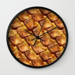 3d abstract snake skin, reptile scale Wall Clock