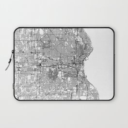 Milwaukee White Map Laptop Sleeve