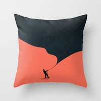 budi Throw Pillows featuring Night fills up the sky by Picomodi