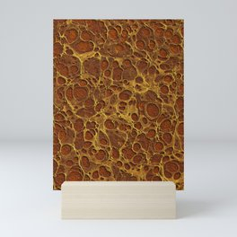 Sienna Gold Marble Mini Art Print