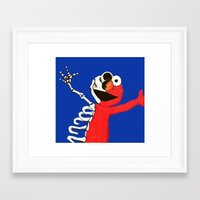 elmo Framed Art Prints featuring elmo by Robyn Alatorre