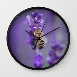 Lavender Bee Wall Clock