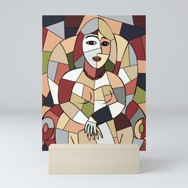 Woman with Kindle #5 Mini Art Print