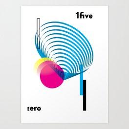 zero 1five - white Art Print