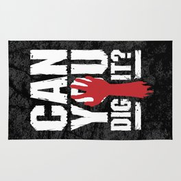 Can You Dig It? Funny Zombie Halloween Rug
