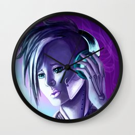 Plugged In/ Blue & Pink Wall Clock