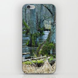 Trees in Frosen Water iPhone Skin
