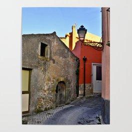 Medieval village of Sicily Poster