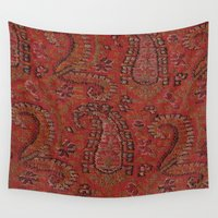 persian Wall Tapestries featuring Vintage Persian Paisley by Haleh M Brooks