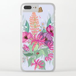 Anemones & Honeysuckle Clear iPhone Case