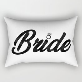 Funny Bride To Be Bridesmaid Bridal Party Gift Rectangular Pillow