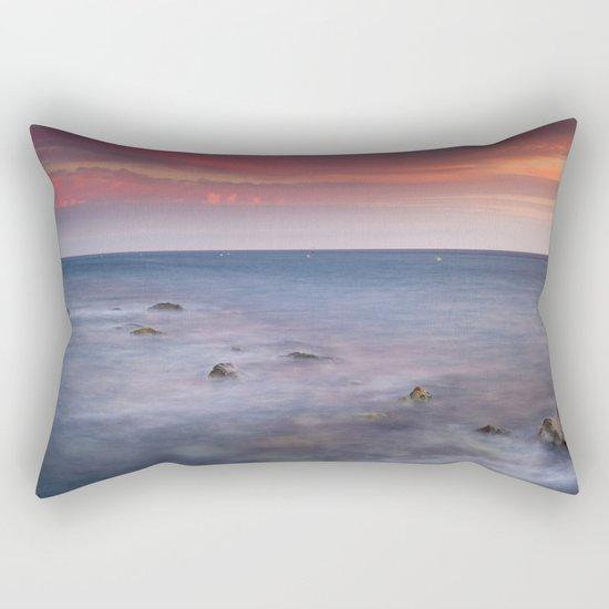 """Living...."" Love the sea.... Rectangular Pillow"
