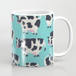 Cow Collection – Turquoise Coffee Mug