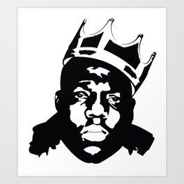 HIP HOP - The Notorious BIG - Biggie Smalls - Brooklyn - Biggie CROWN btr Art Print