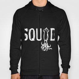 Squid product Sea Creatures Ocean Life Cephalopods print Hoody