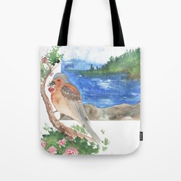 Bird by the beach Tote Bag
