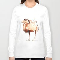 camel Long Sleeve T-shirts featuring Camel by Katrin Kadelke