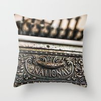 the national Throw Pillows featuring National Cash by Caitlyn Grasso