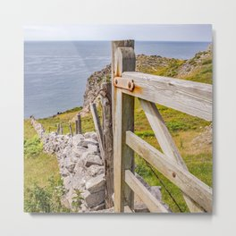 Welsh coastal path Metal Print