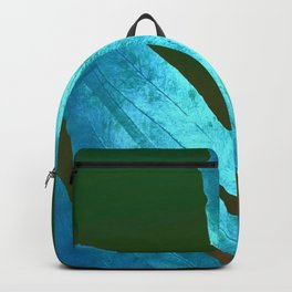 Autumn Leaves Blue and Cold Fall to the Ground Backpack