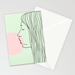 Pink bubblegum Stationery Cards