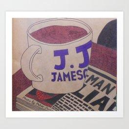 Not my cup of tea Art Print