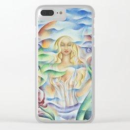 Flower Goddess Clear iPhone Case