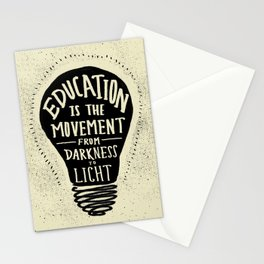 Education: Darkness to Light Stationery Cards