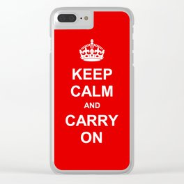 Keep Calm and Carry On Clear iPhone Case