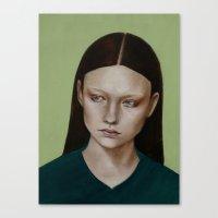 dahlia Canvas Prints featuring Dahlia by Kalynn Burke