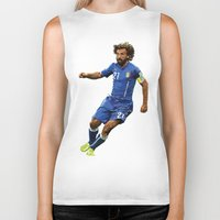 pirlo Biker Tanks featuring World Cup - Italy - Andrea Pirlo by HonickDesign