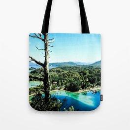 Greeen & Blue Tote Bag