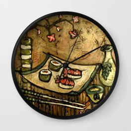 Sushi Served Here Wall Clock