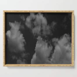 Cloudy black Serving Tray