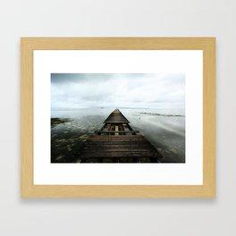 Faded planks Framed Art Print