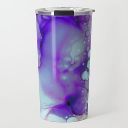 Becoming Abstract Painting in Amethyst Rose Travel Mug