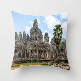 Bayon Temple, Angkor Thom, Cambodia Throw Pillow