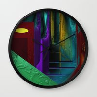 street Wall Clocks featuring Street by Turul