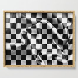 Chequered Flag Serving Tray