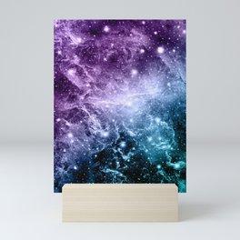 Purple Teal Galaxy Nebula Dream #4 #decor #art #society6 Mini Art Print