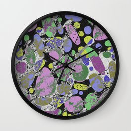 Crazy Paving - Abstract, textured, pastel coloured artwork Wall Clock