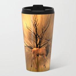 Golden stag Travel Mug