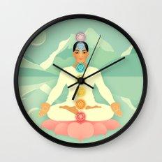 Sacred World: Chakras Wall Clock