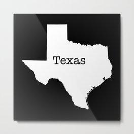 Texas State outline  Metal Print