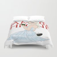 mother of dragons Duvet Covers featuring Mother Of The Dragons (no background) by Guilherme Mauad